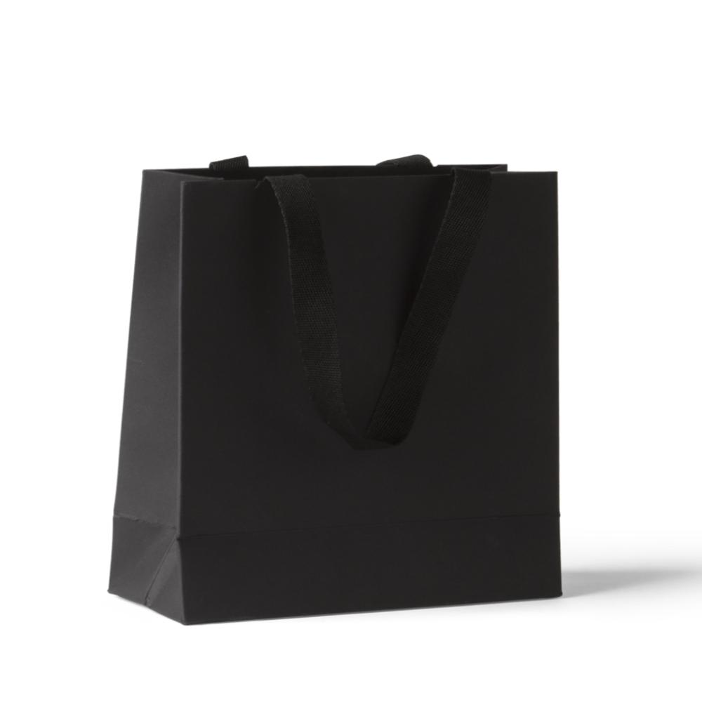 Black Paper Shopping Bag Mockup