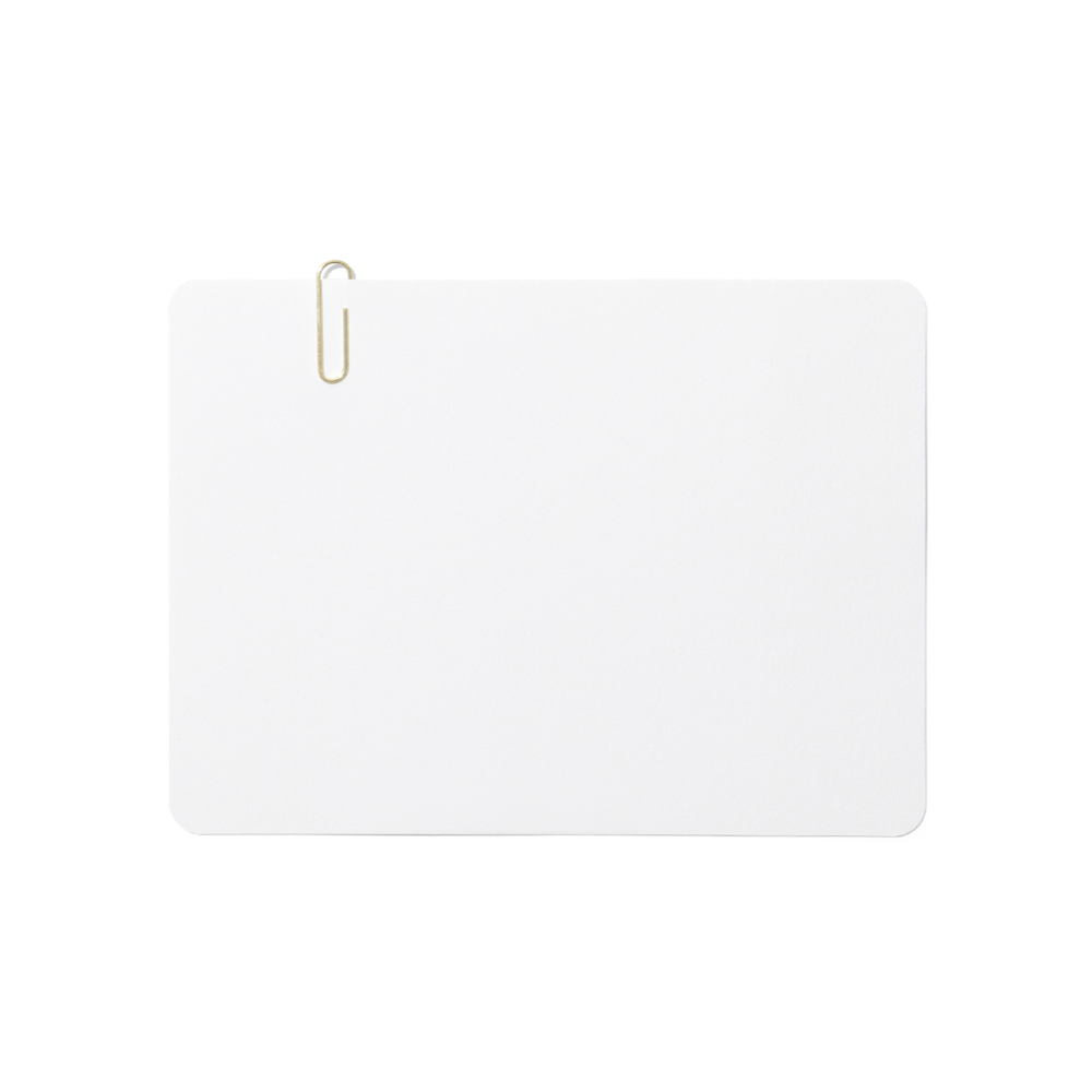 Card with Paperclip Mockup