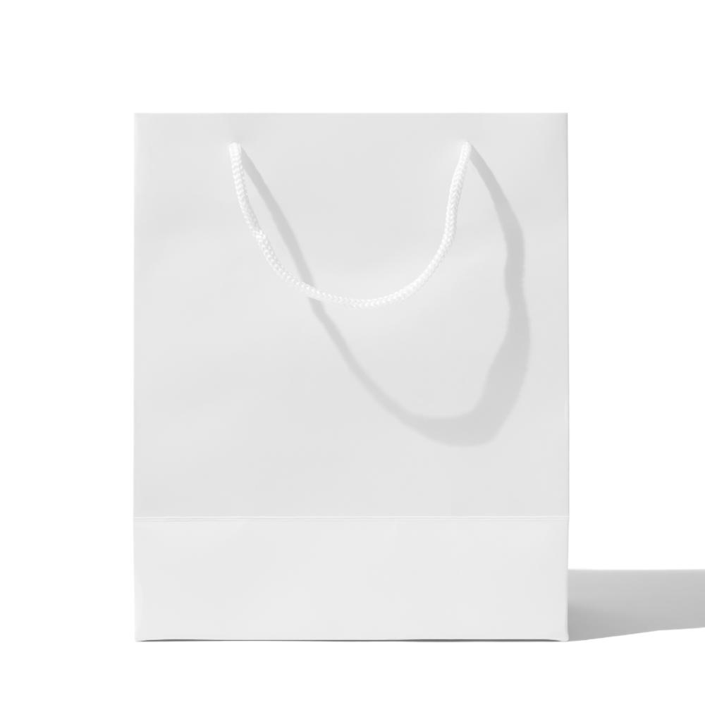 White Paper Shopping Bag Mockup