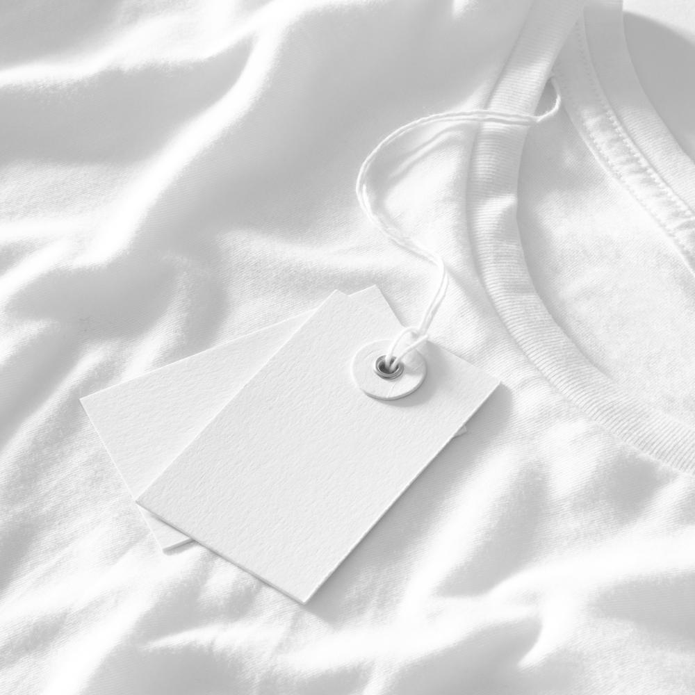 T-shirt and Tag Close Up