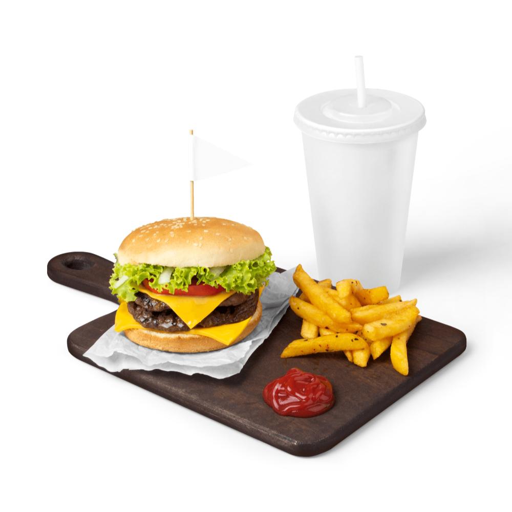 Burger Mockup Scene