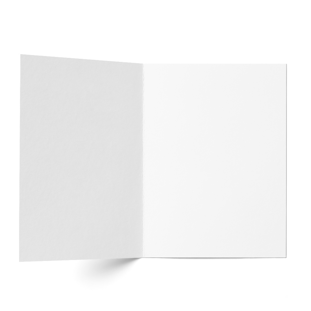 Folded Card A7 (131x178 mm) White