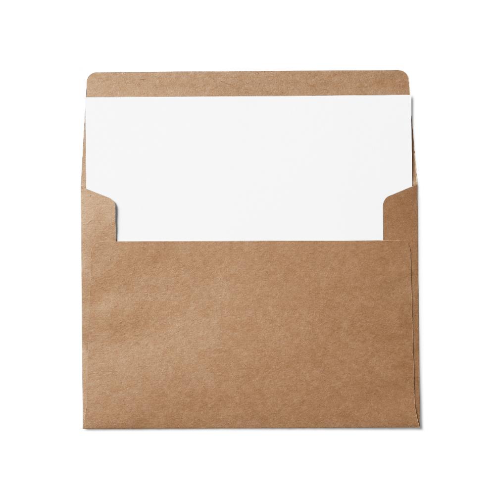 Square Flap A7 Envelope (133x184mm) Kraft