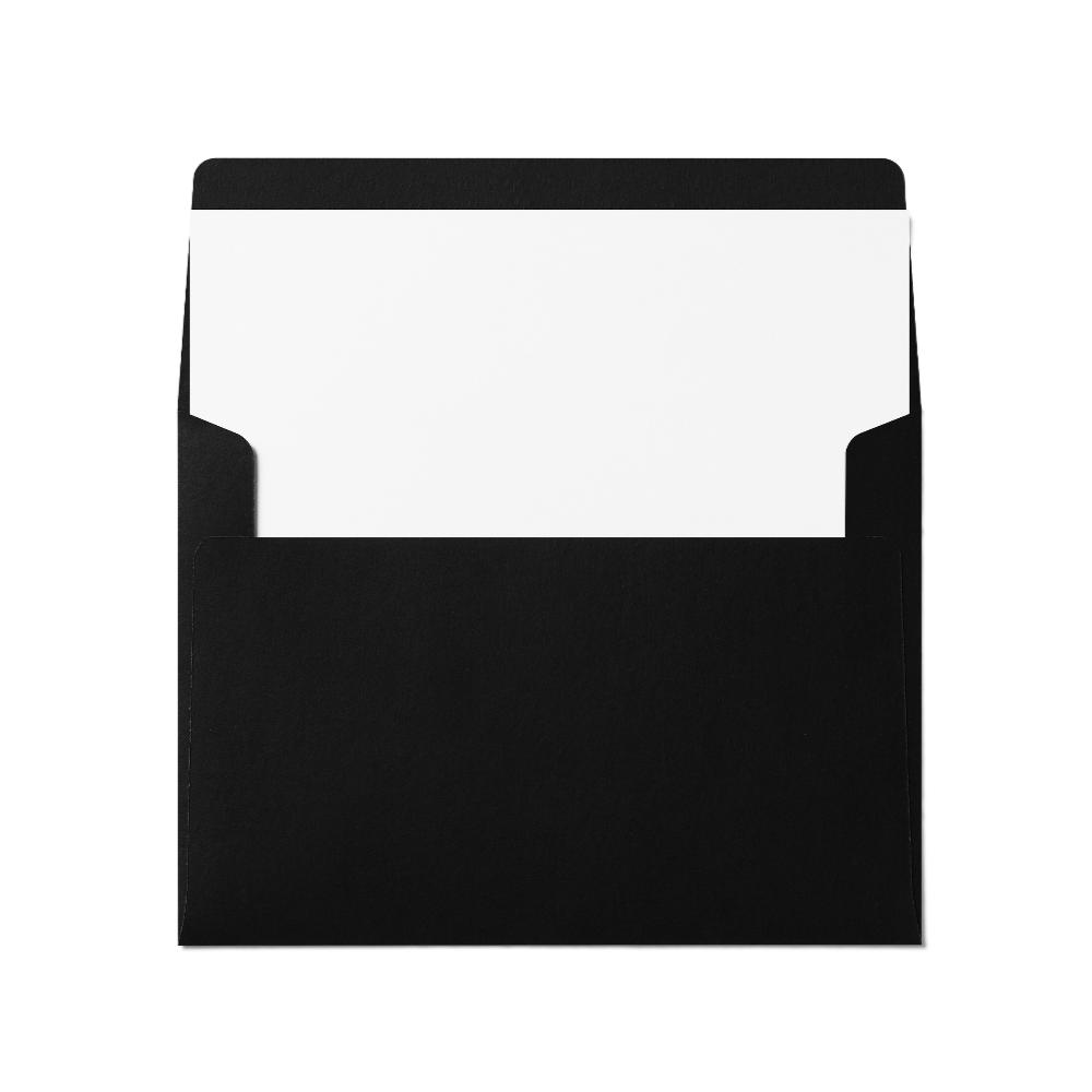 Square Flap A7 Envelope (133x184mm) Black
