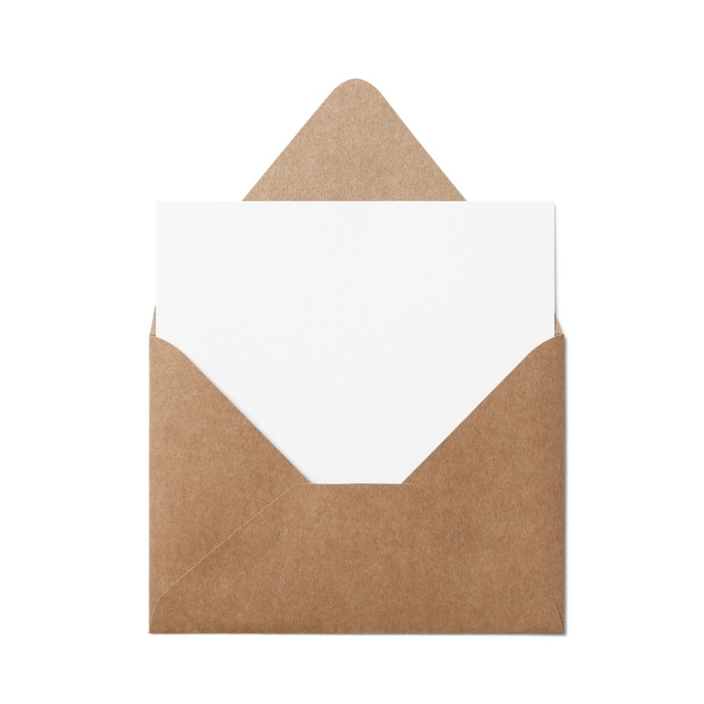 Counter Flap A7 Envelope (133x184mm) Kraft