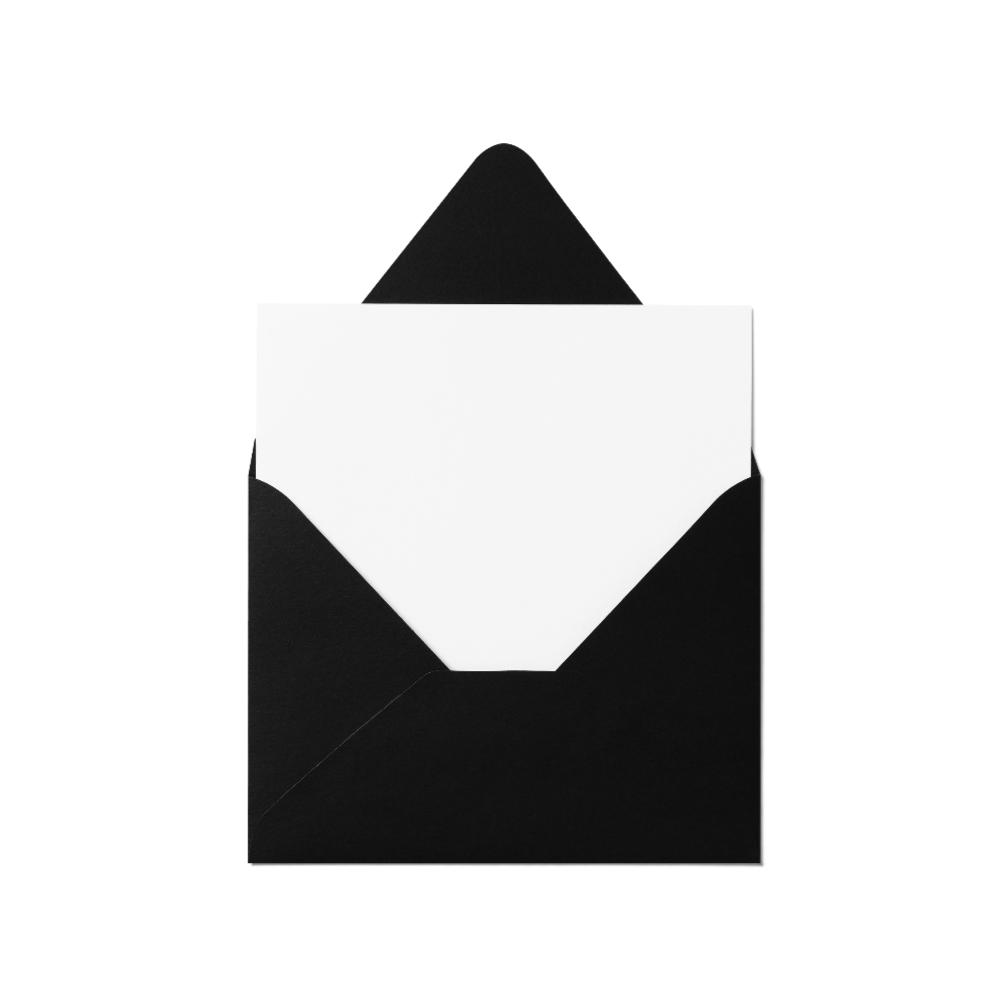 Counter Flap A2 Envelope (111x146mm) Black