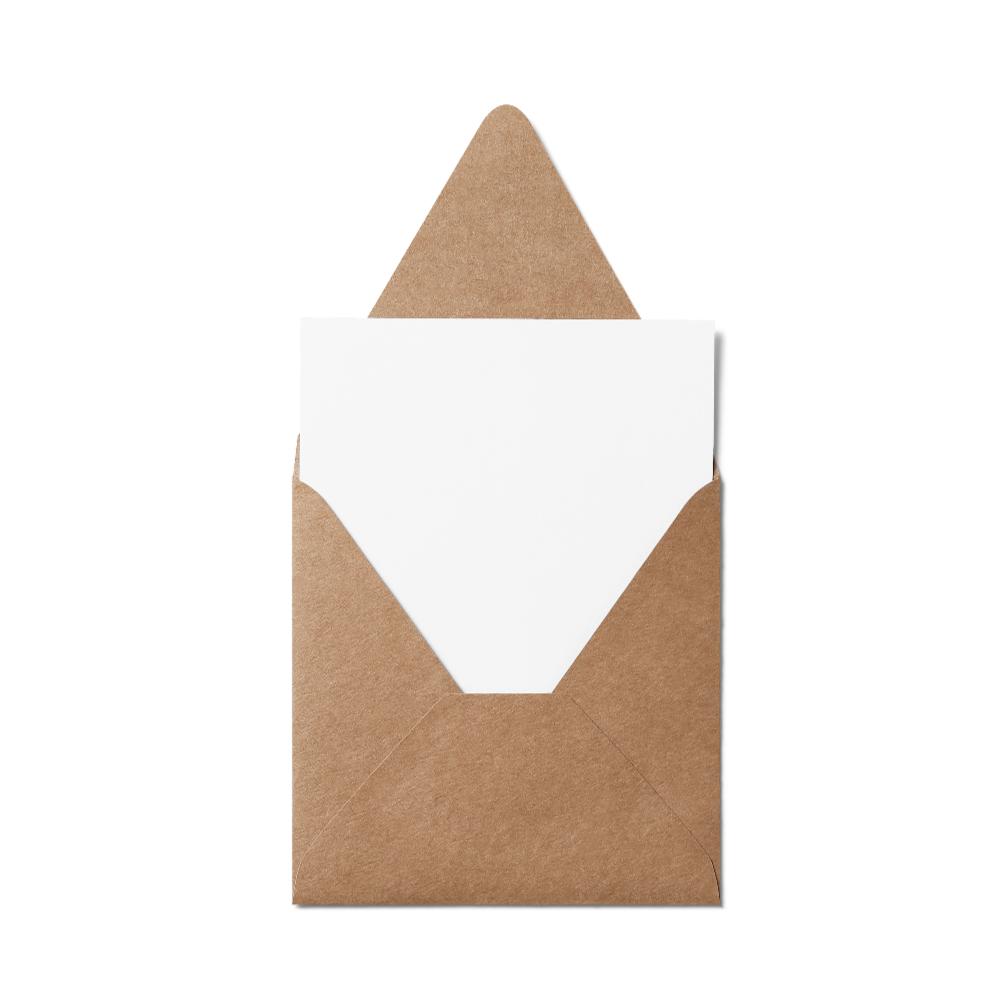 Counter Flap Square Envelope (127x127mm) Kraft