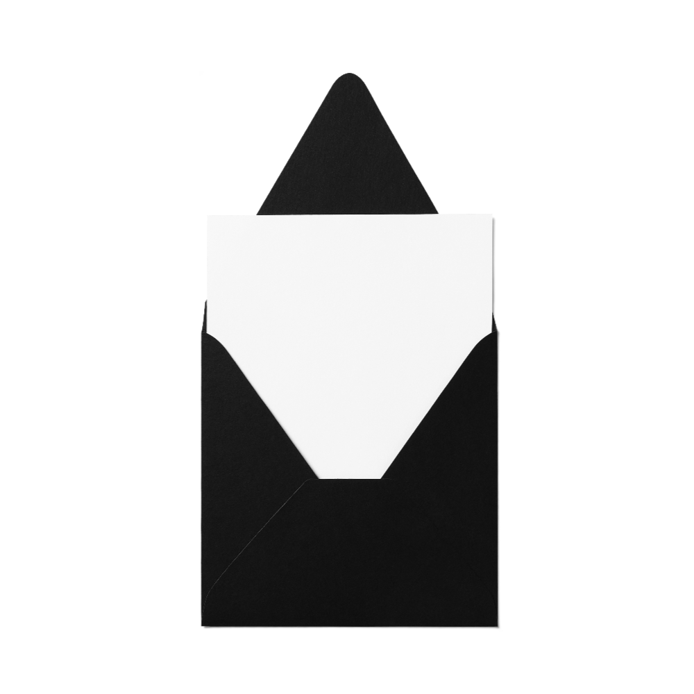 Counter Flap Square Envelope (127x127mm) Black