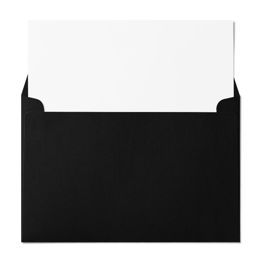"""Booklet 6x9"""" Envelope (152x229mm) Black"""