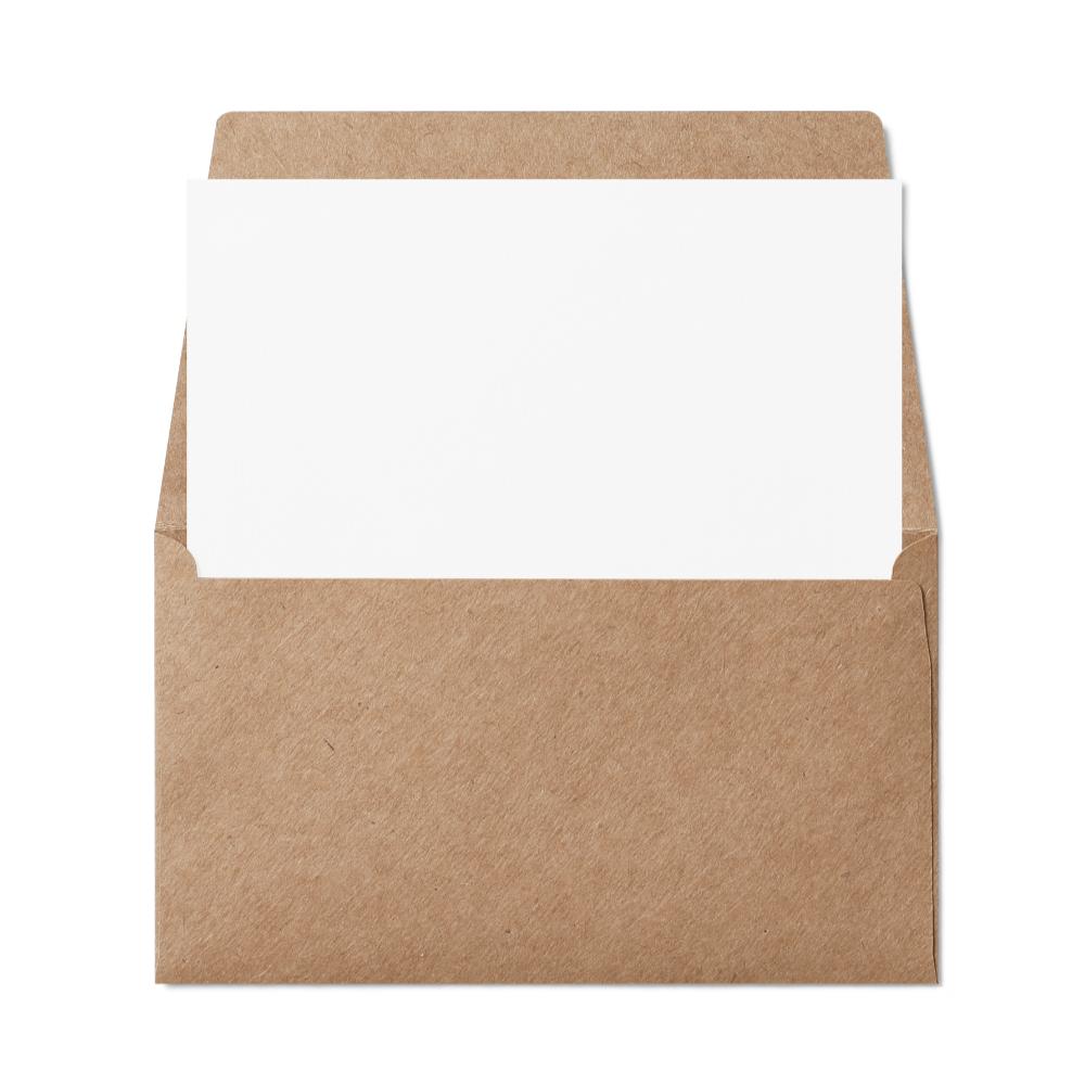 Remittance 6 1/4 Envelope (89x152mm) Kraft