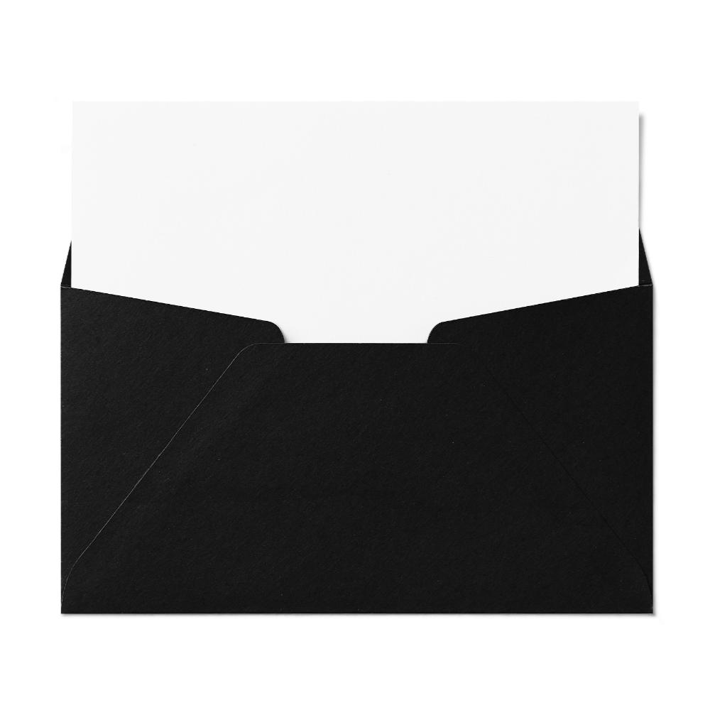 Regular #6 Envelope (92x165mm) Black