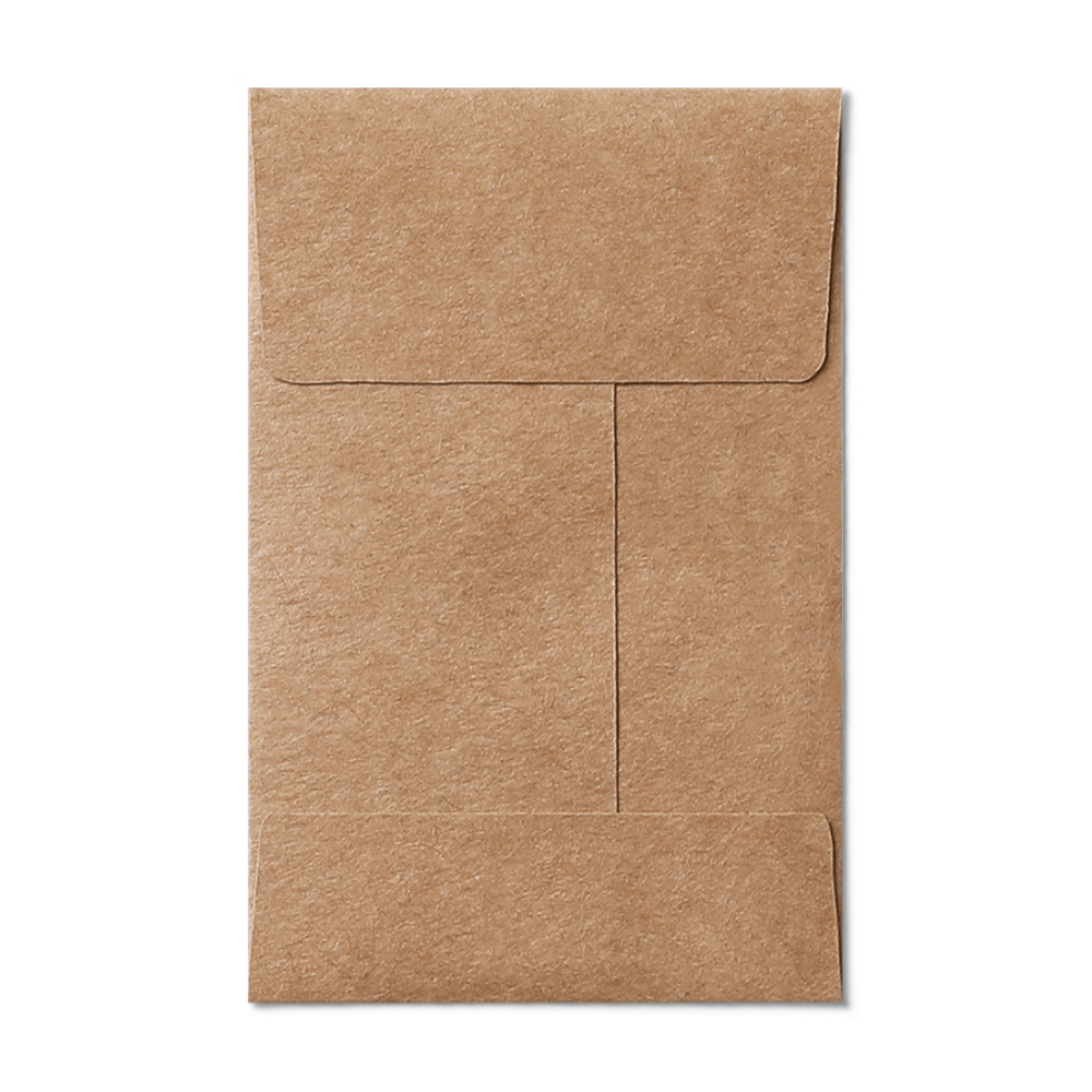 Open End #5 1/2 Coin Envelope (80x140mm) Kraft Mockup