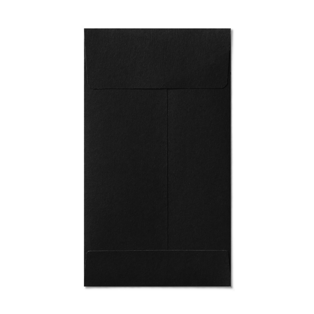 Open End #5 1/2 Coin Envelope (80x140mm) Black