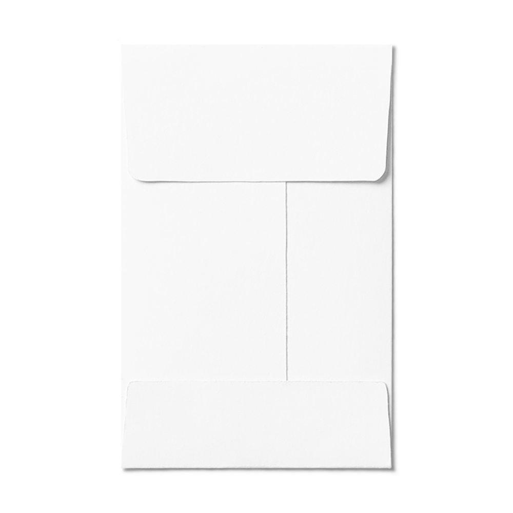 Open End #1 Coin Envelope (57x89mm) White Mockup
