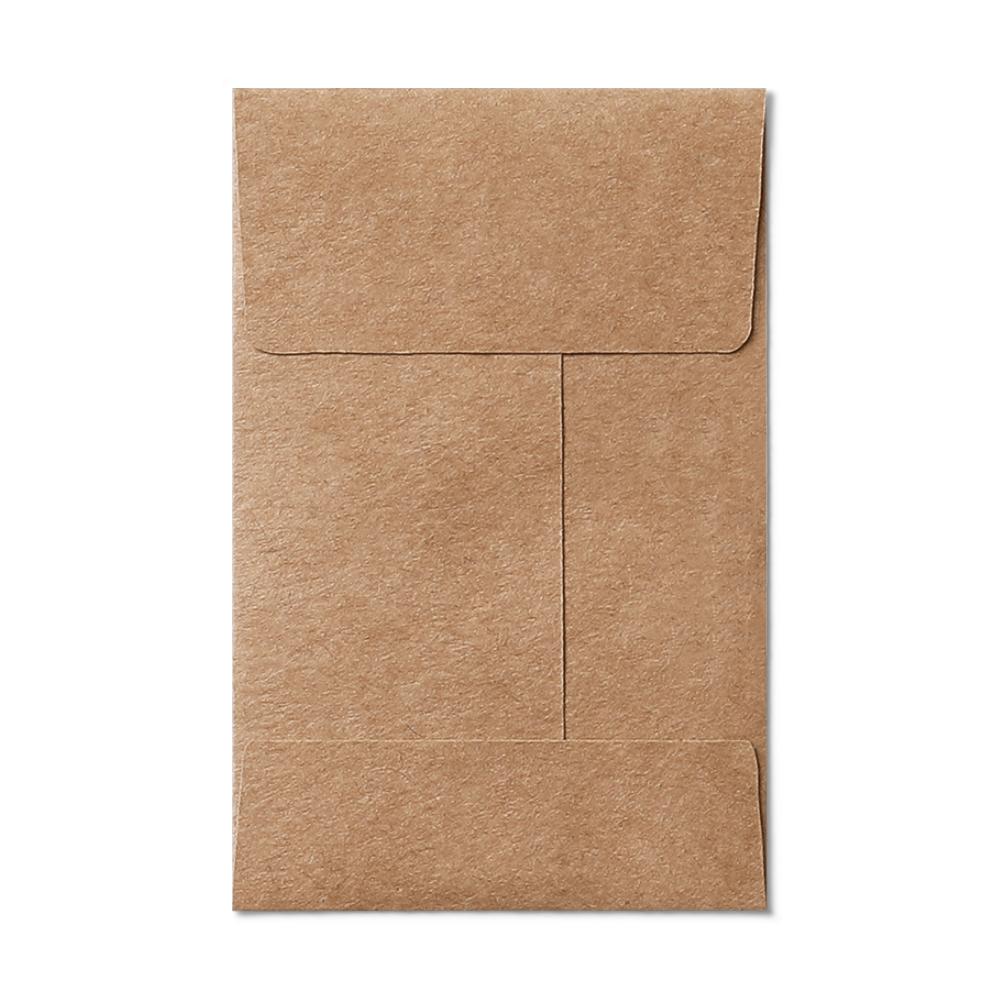 Open End #1 Coin Envelope (57x89mm) Kraft Mockup