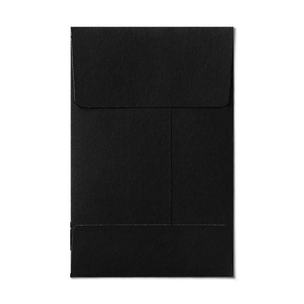 Open End #1 Coin Envelope (57x89mm) Black Mockup