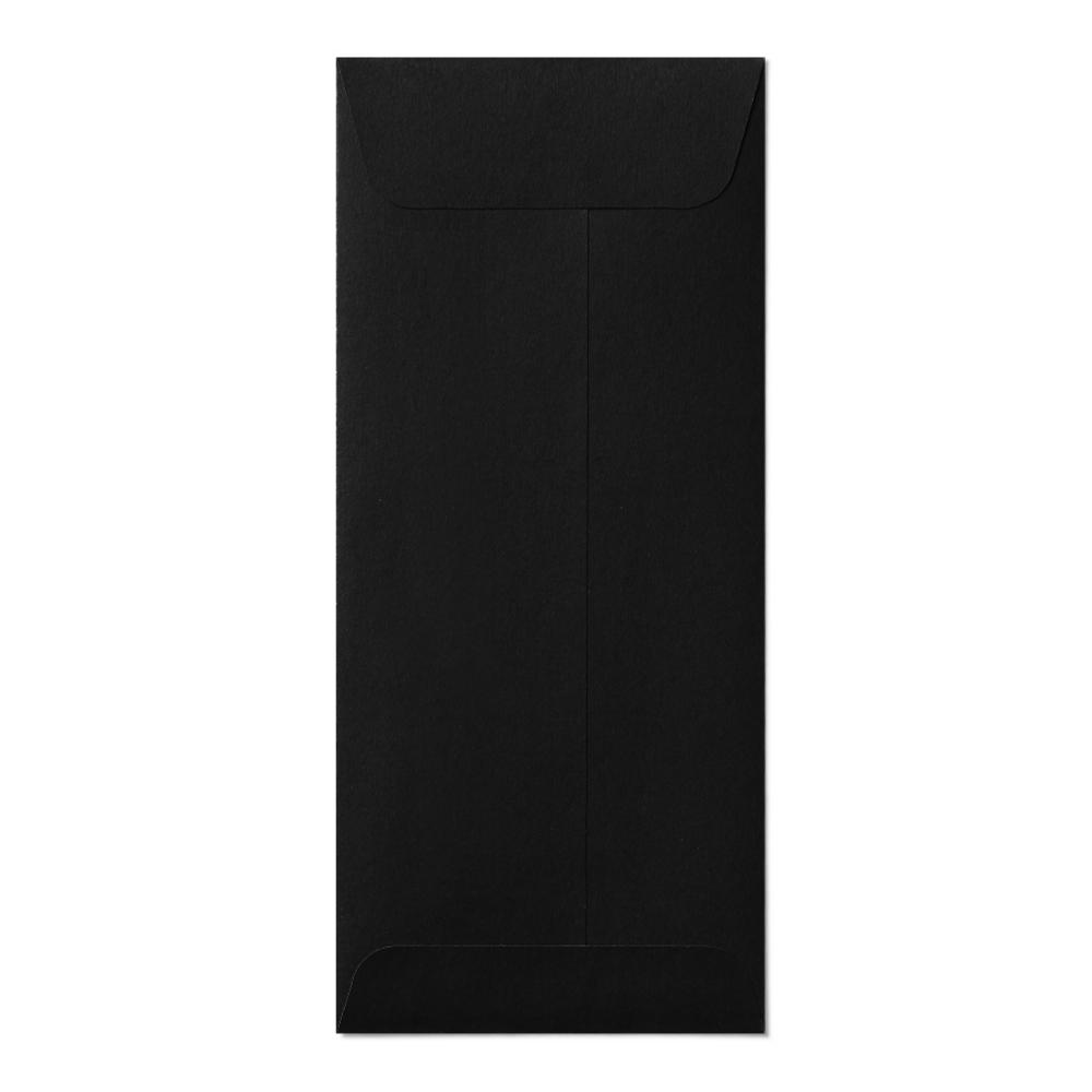 Open End #10 Envelope (105x241mm) Black Mockup