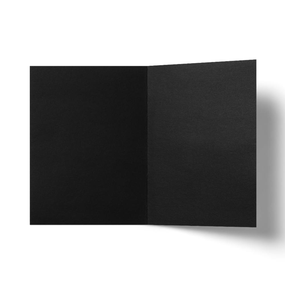 Folded Card A6 (118x159 mm) Black