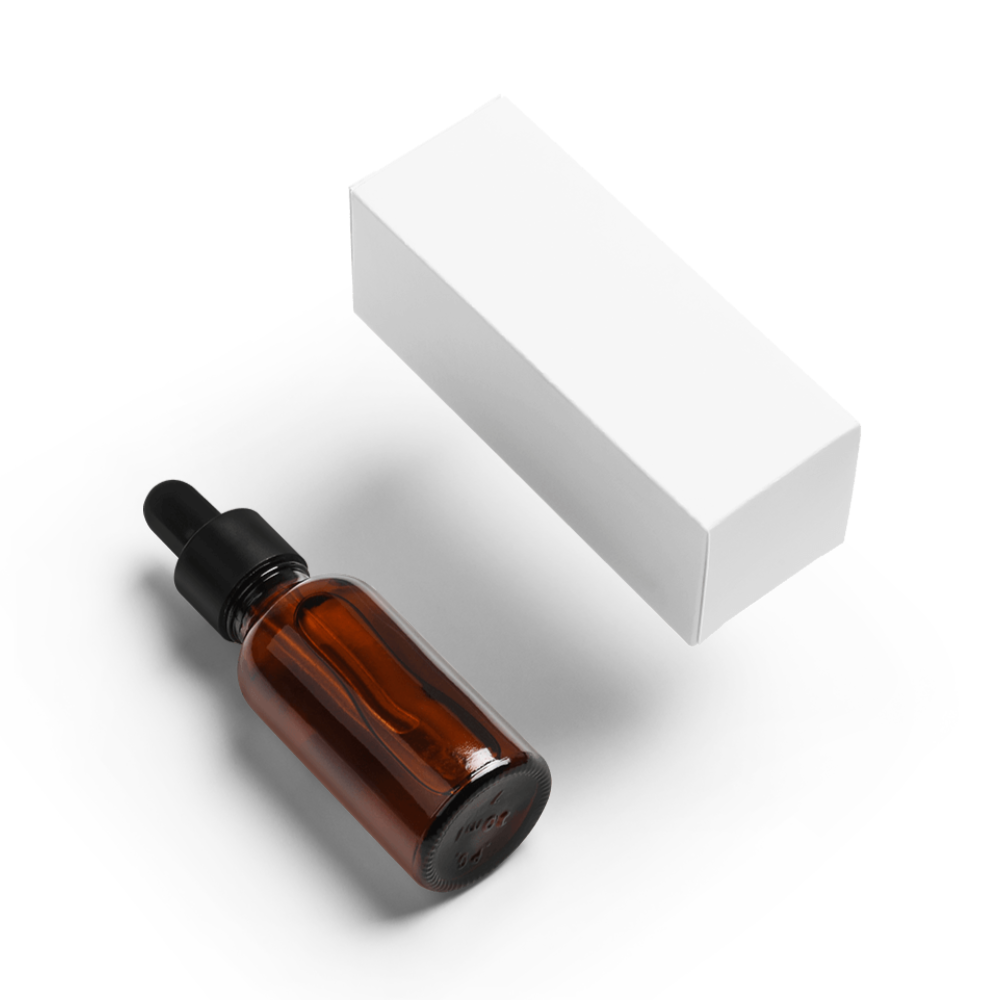 Dropper Bottle and Product Box Mockup