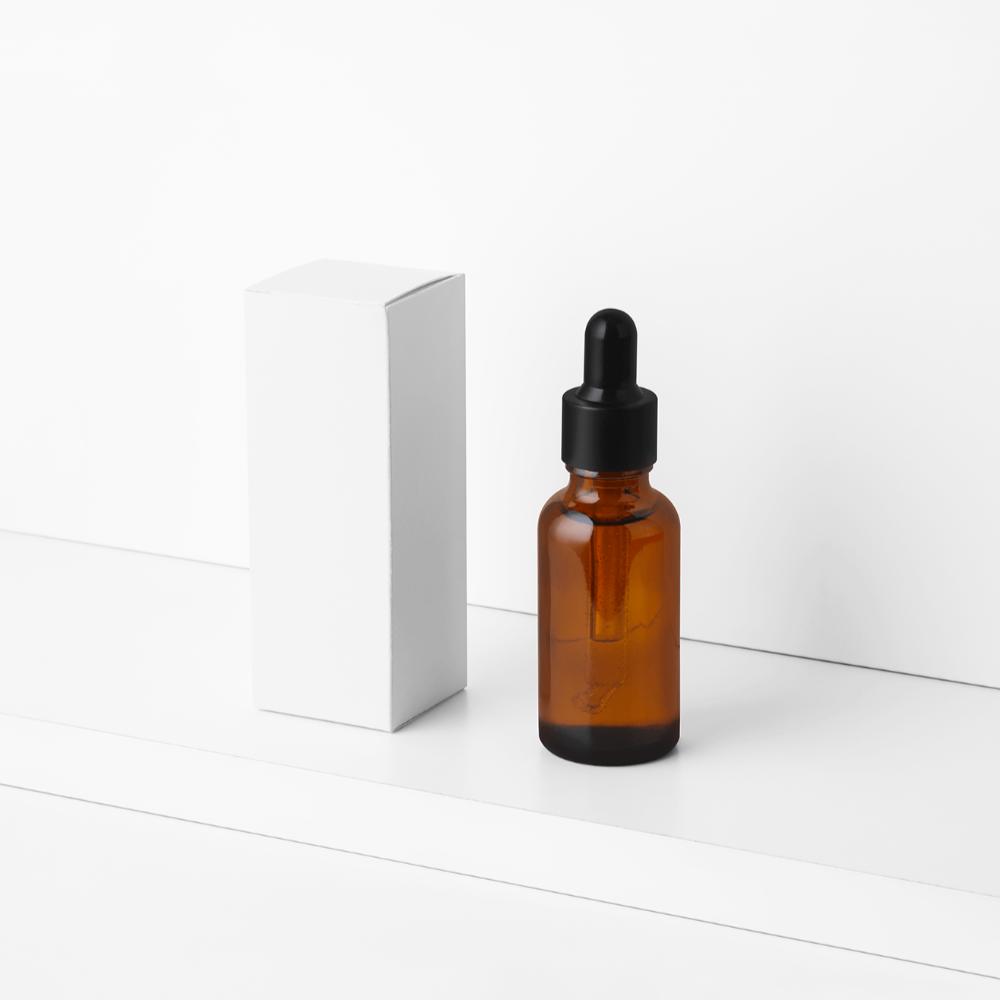 Dropper Bottle & Product Box Mockup