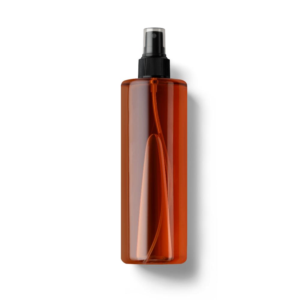 Amber Plastic Spray Bottle Mockup