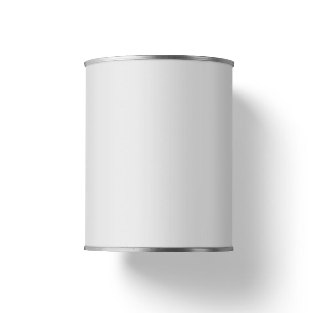White Tin Can Mockup
