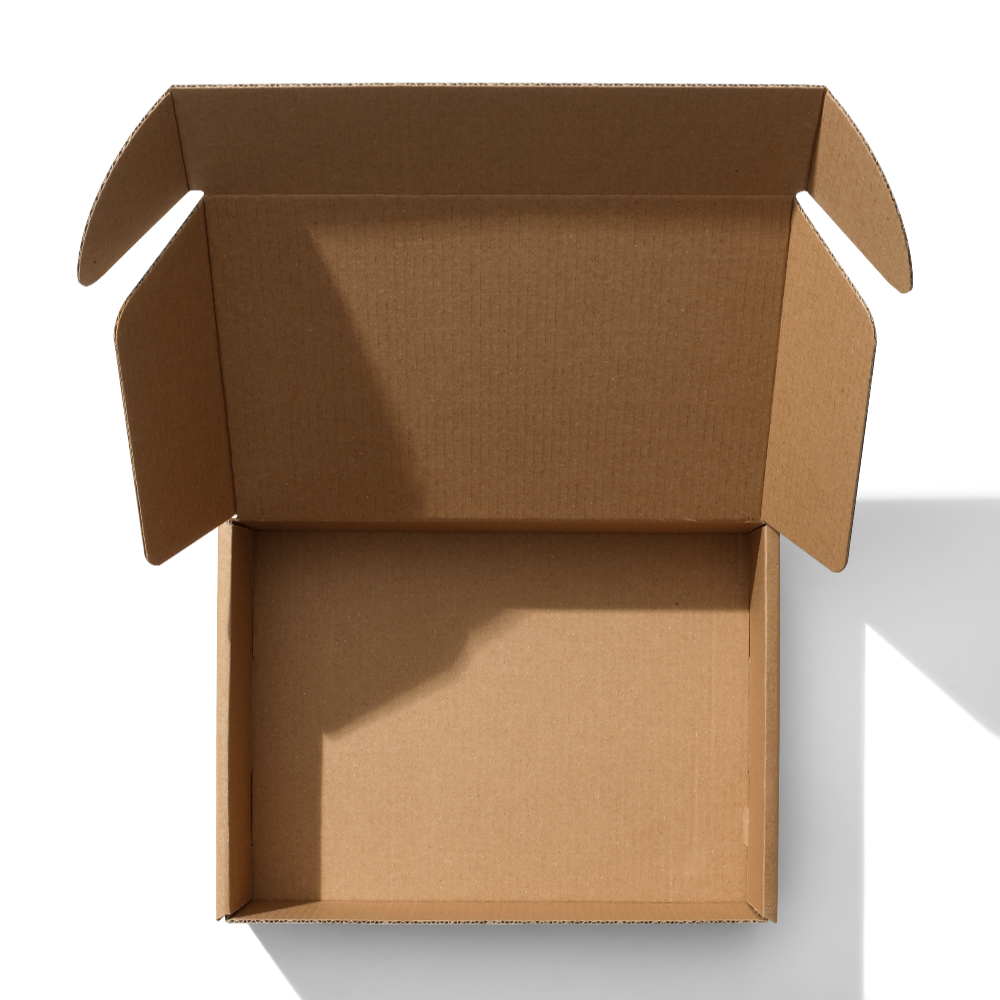 Open Kraft Mailer Box Mockup