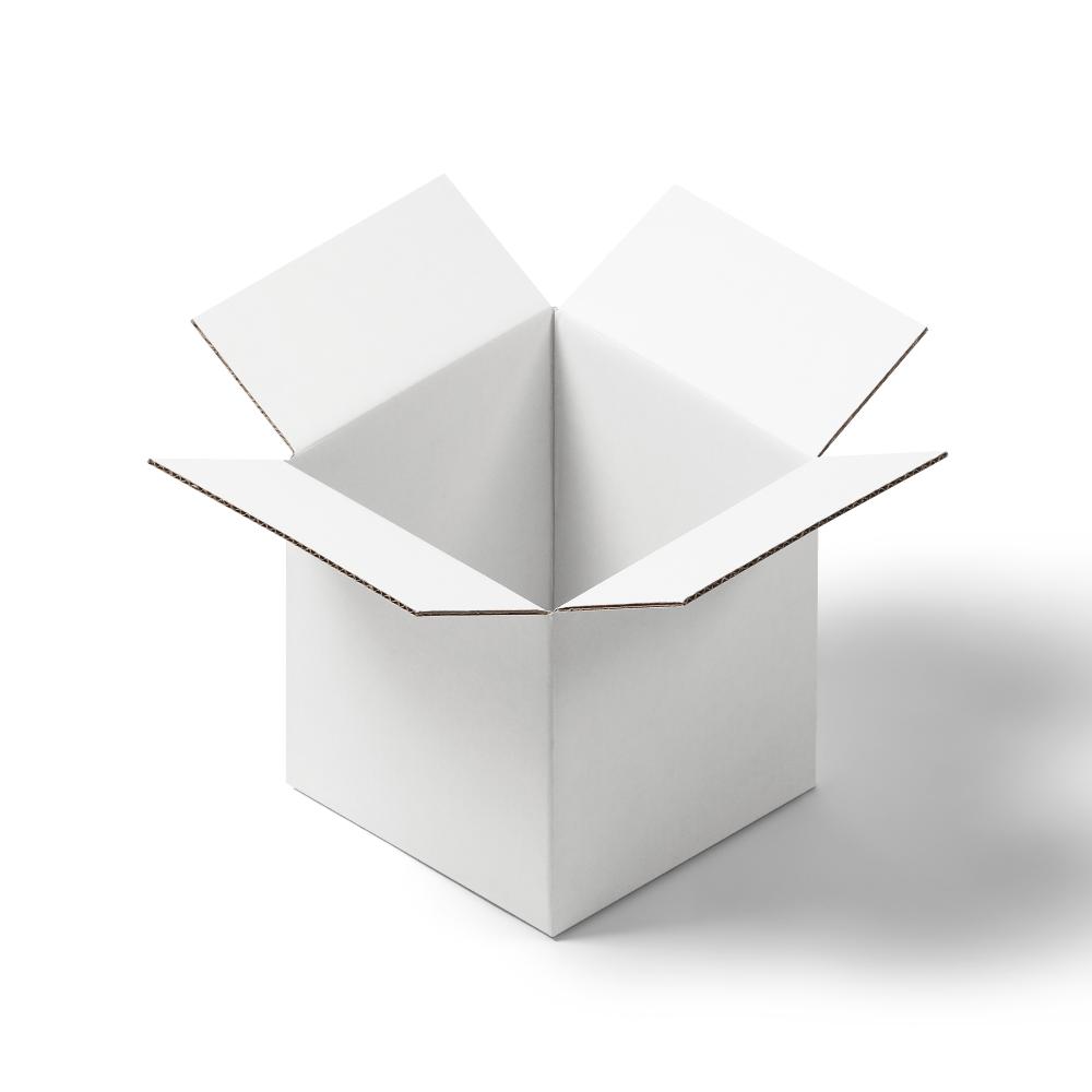 Square Shipping Box Mockup
