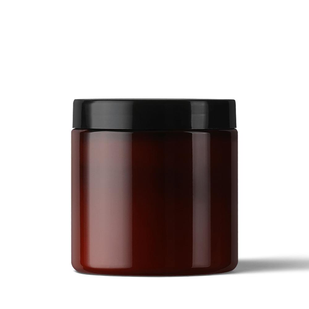 Glass Amber Jar Mockup