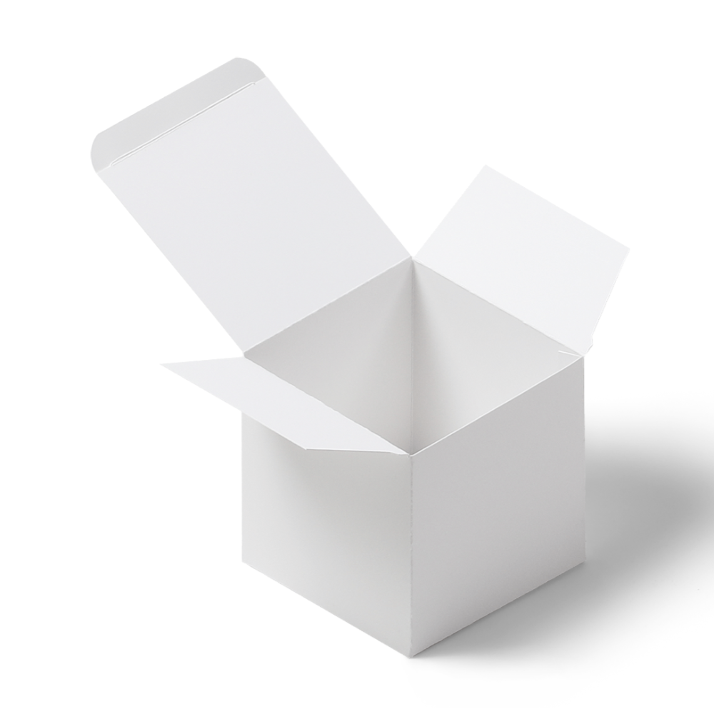 Square Product Box Mockup