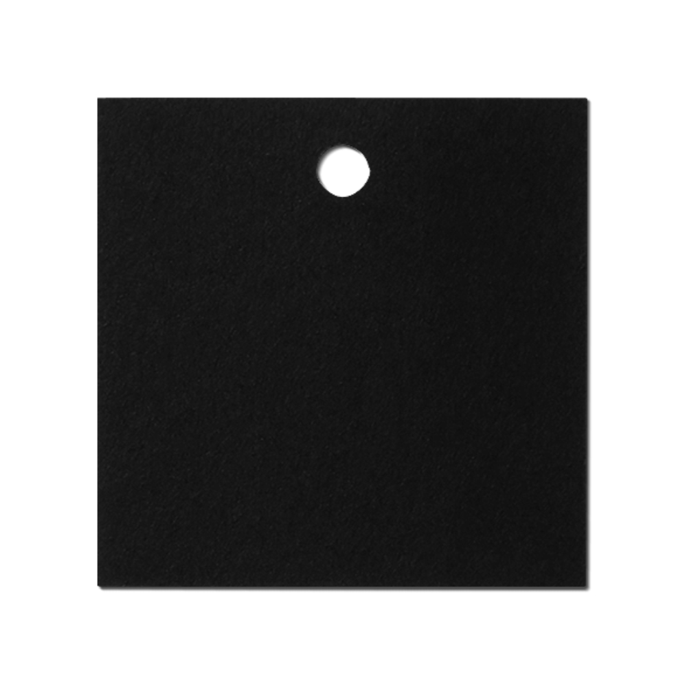 Black Square Label Tag Mockup