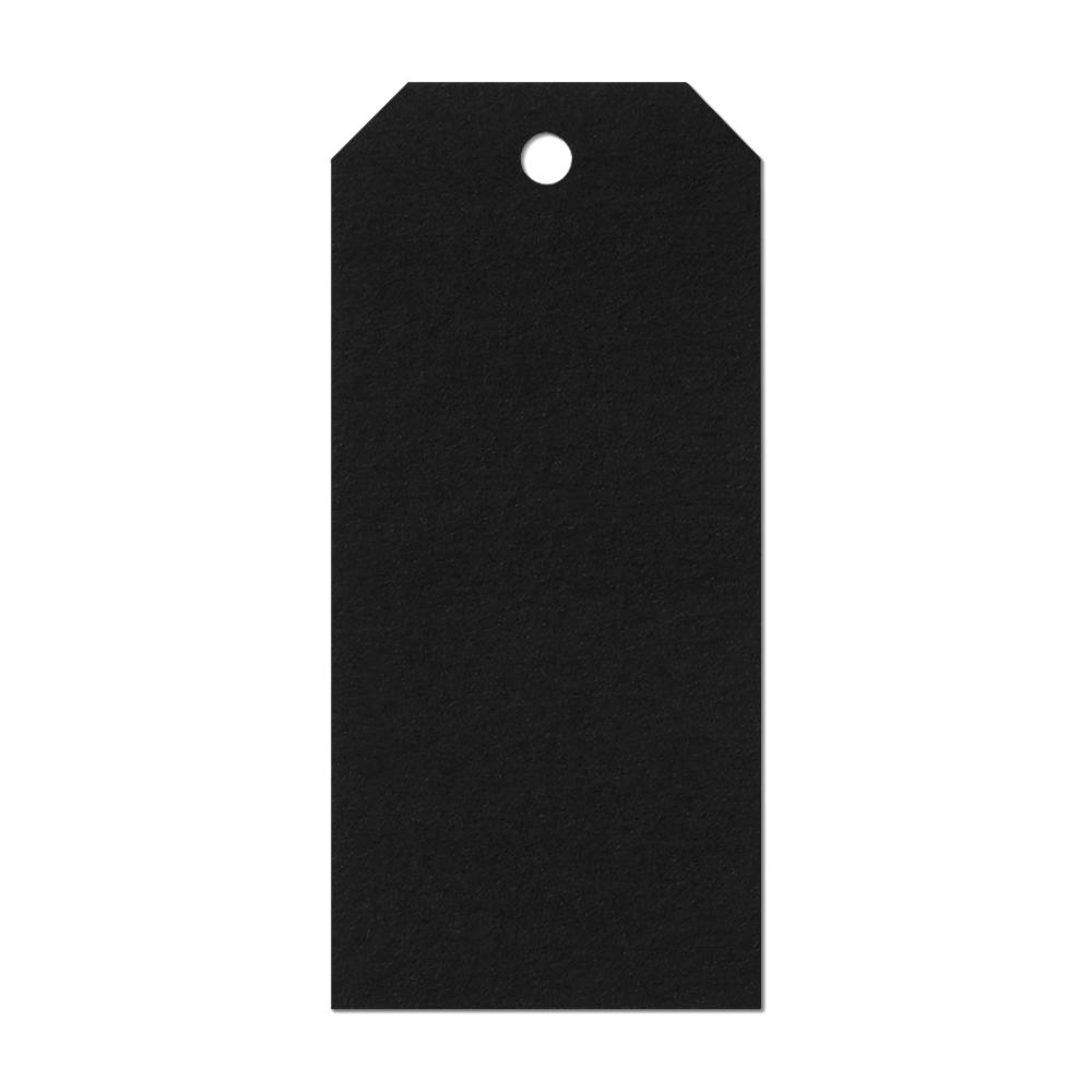 Black Luggage Label Tag Mockup