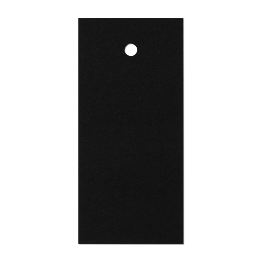 Black Long Label Tag Mockup