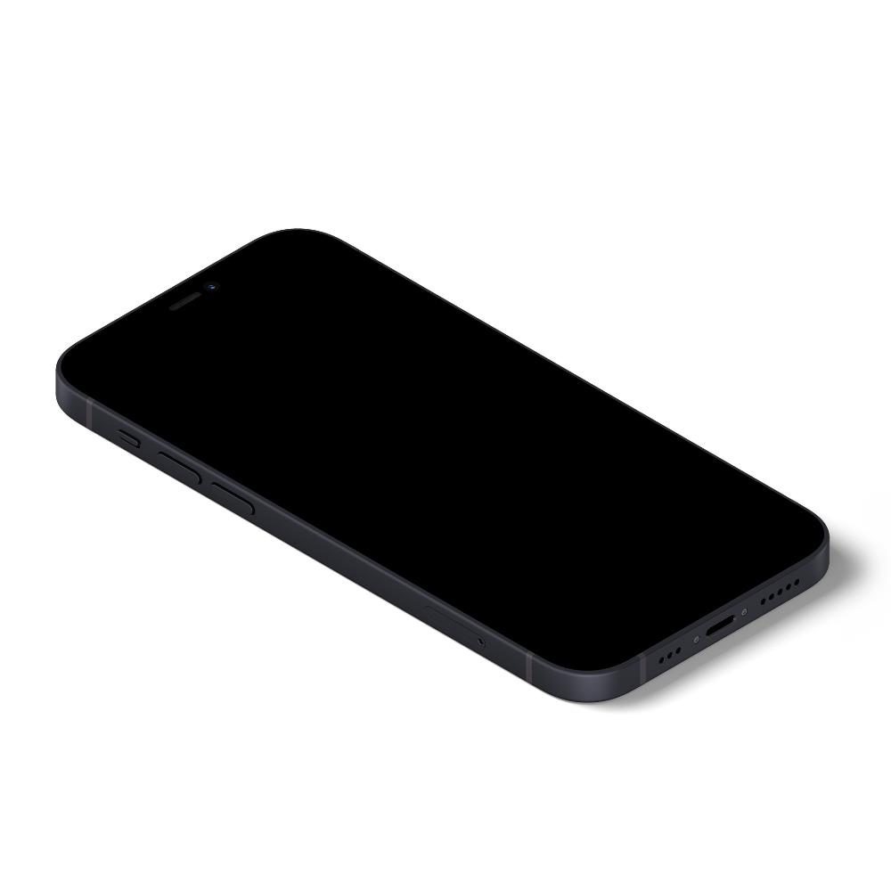 Isometric iPhone 12 Mockup