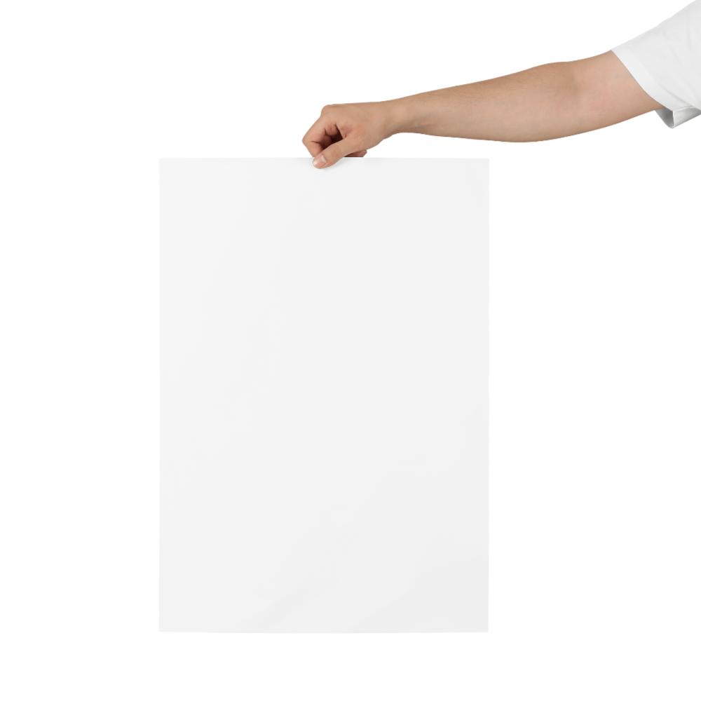 Hand Holding Poster Mockup