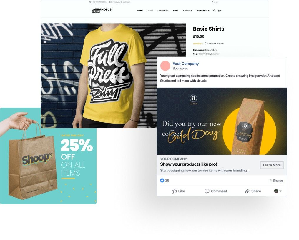 Increase your sales by using eye-catching promotional images