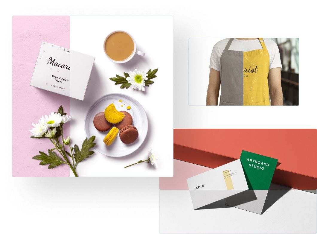 Customize every detail and create your own mockup scene