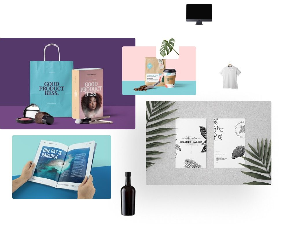 An ever-growing library of premium mockups and templates