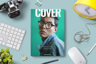 Cover Design Mockup Scene
