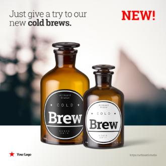Cold Brew Bottles Instagram Post