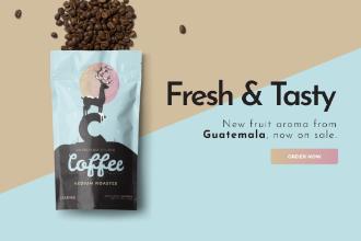 Coffee Pack Website Banner
