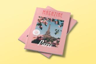 Magazine Mockup Scene