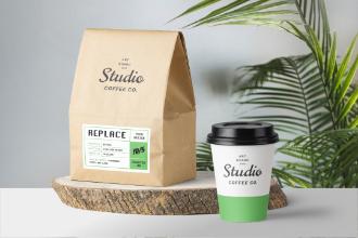 Coffee Packaging Mockup Scene