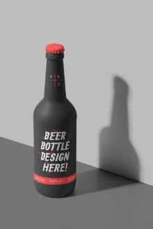 Painted Beer Bottle