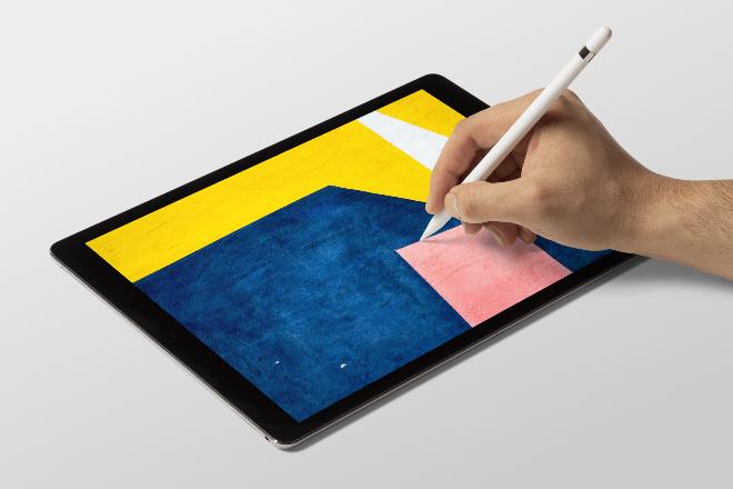 iPad Painting Mockup Scene