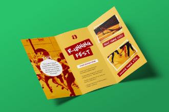 A4 Folded Brochure Mockup Scene