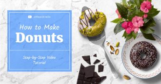 Social Media Banner Design With Donuts