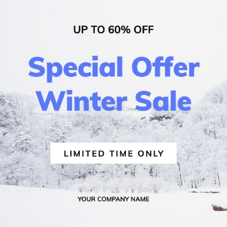 Square Winter Sale Banner Design