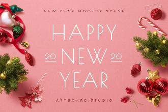 New Year Mockup Scene