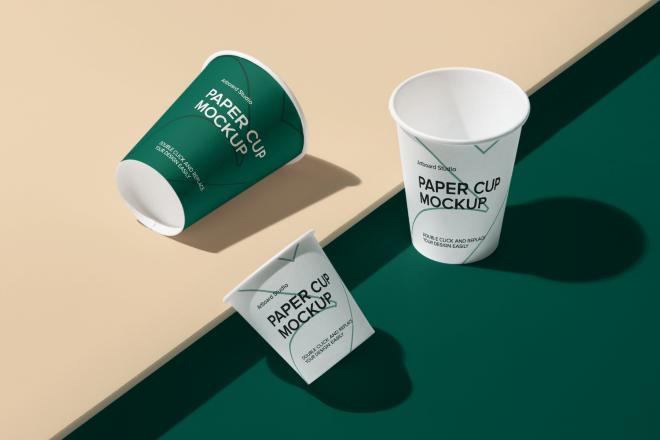 Paper Cup Mockup Scene
